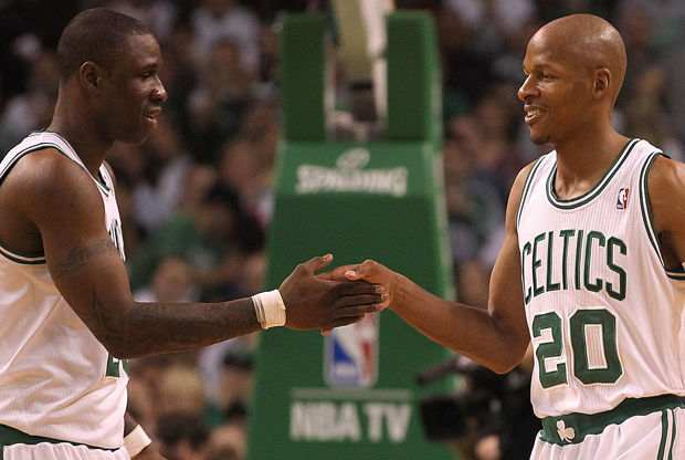 Ray Allen y Mickael Pietrus./ Getty Images