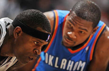 Stephen Jackson y Kevin Durant./ Getty Images