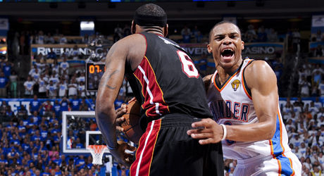 Russell Westbrook y LeBron James./ Getty Images