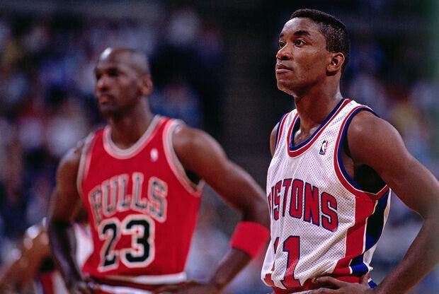 Isiah Thomas y Michael Jordan./ Getty Images