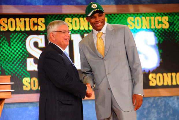 David Stern y Russell Westbrook./ Getty Images