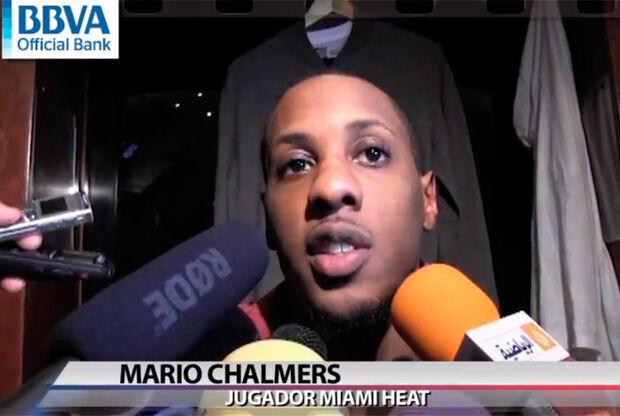 Mario Chalmers, jugador de Miami Heat