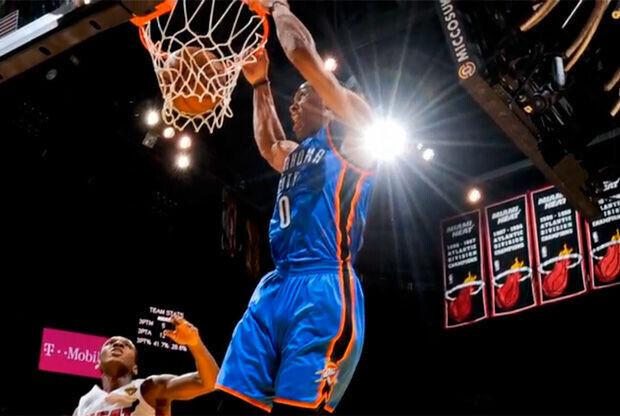 Russell Westbrook, jugador de los Oklahoma City Thunder