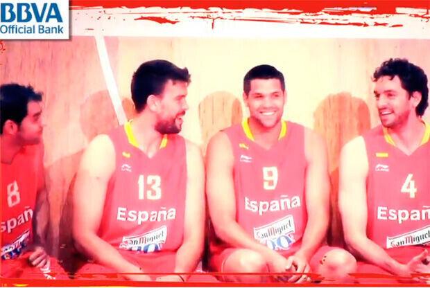 José Manuel Calderón, Marc Gasol, Felipe Reyes y Pau Gasol