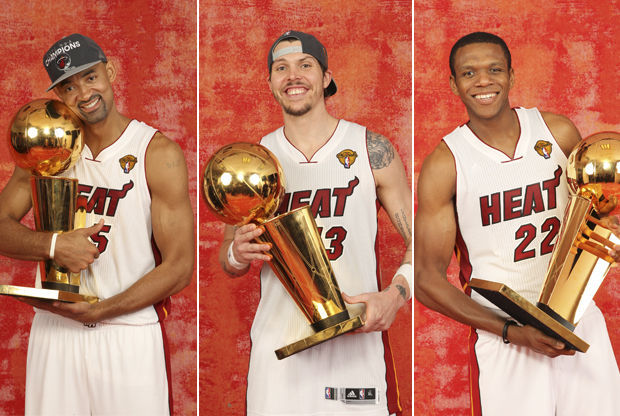 Juwan Howard, Mike Miller, James Jones./ Getty Images