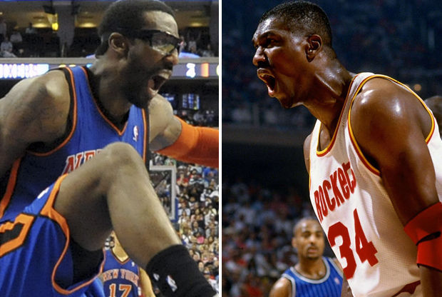 Amar'e Stoudemire y Hakeem Olajuwon./ Getty Images