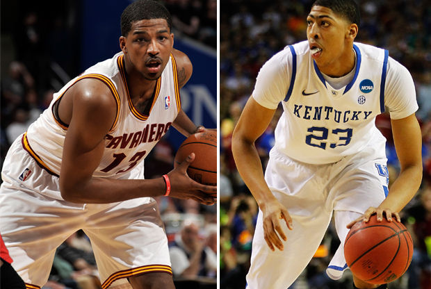 Tristan Thompson y Anthony Davis./ Getty Images