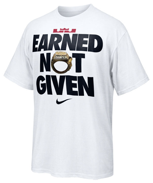 Earned, not given