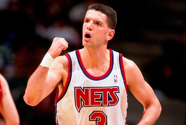 Drazen Petrovic en su etapa como jugador de los Nets./ Getty