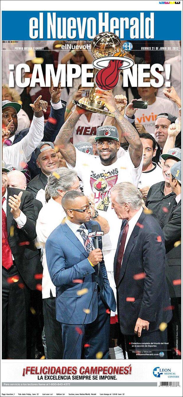LeBron James, portada de El Nuevo Herald