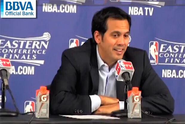 Erik Spoelstra, entrenador de los Miami Heat