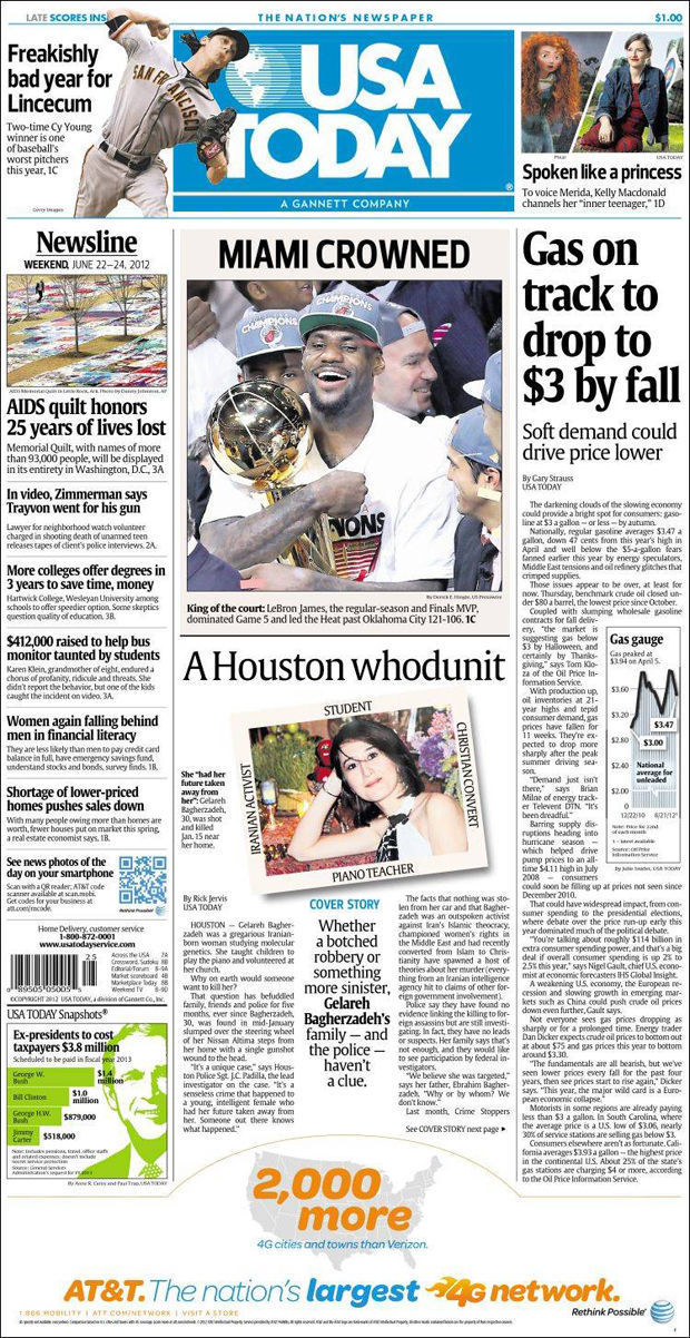 LeBron James, portada de USA Today