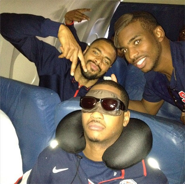 Carmelo Anthony, Tyson Chandlers y Chris Paul