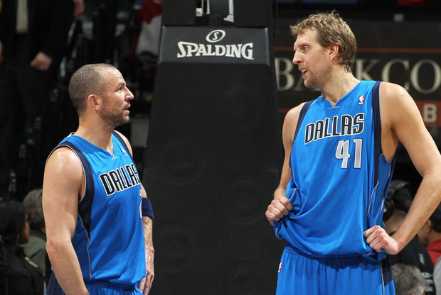 Jason Kidd y Dirk Nowitzki./ Getty Images