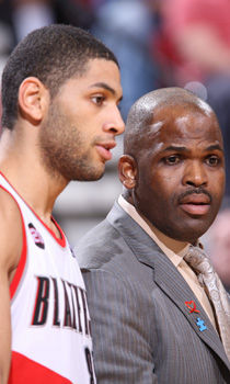 Nicolas Batum y Nate McMillan./ Getty Images