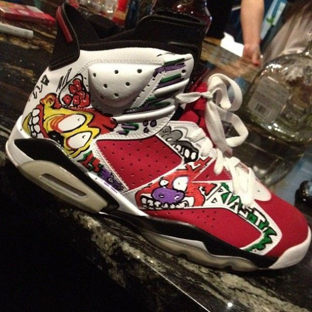 Air Jordan VI Carmine Chris Brown