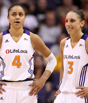 Candice Dupree y Diana Taurasi./ Getty Images