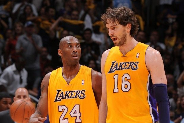 Kobe Bryant, Pau Gasol./ Getty Images