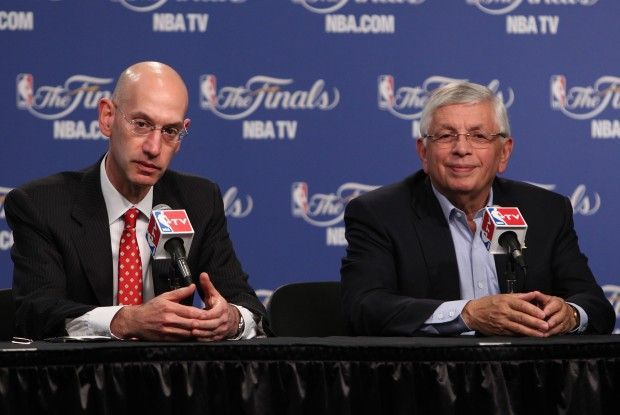 David Stern y Adan Silver./ Getty Images