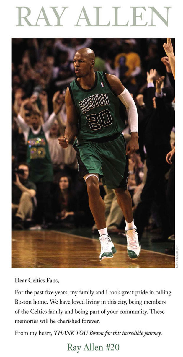 Ray Allen./ Boston Globe