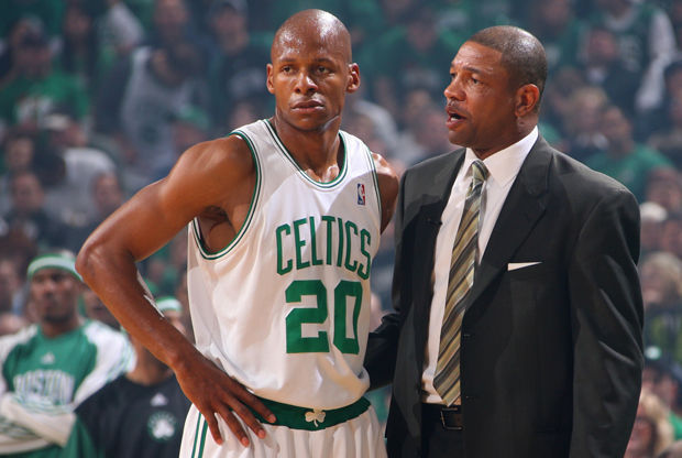 Ray Allen y Doc Rivers./ Getty Images