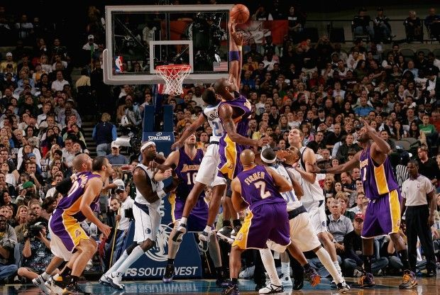 Mavs vs. Lakers./ Getty Images