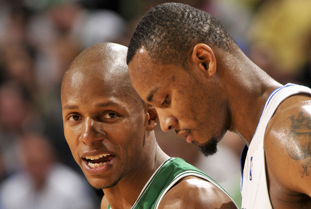 Ray Allen y Rashard Lewis./ Getty Images