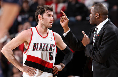 Rudy Fernandez y Nate McMillan./ Getty Images