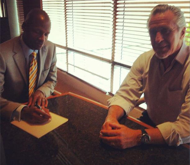 Ray Allen y Pat Riley
