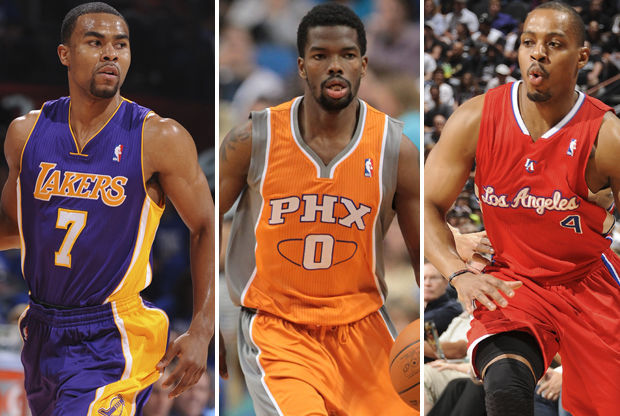 Ramon Sessions, Aaron Brooks y Randy Foye./ Getty Images