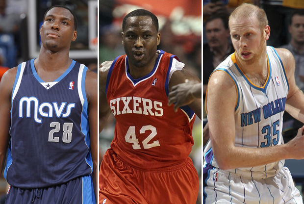 Ian Mahinmi, Elton Brand y Chris Kaman./ Getty Images
