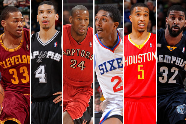 Alonzo Gee, Danny Green, Sonny Weems, Lou Williams, Courtney Lee, O.J. Mayo./ Getty Images