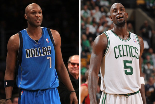 Lamar Odom y Kevin Garnett./ Getty Images