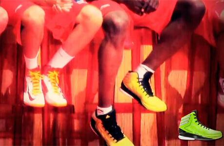 Zapatillas de Rudy Fernández (Nike) y de Serge Ibaka (adidas)