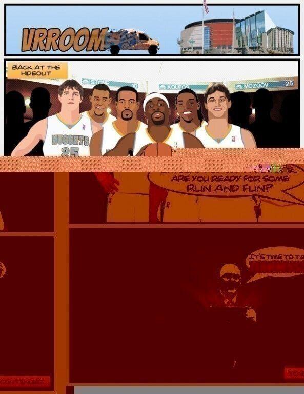 Denver Nuggets cómic