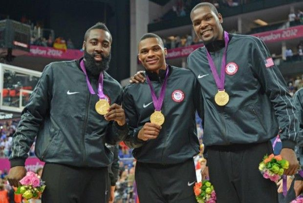 James Harden, Russell Westbrook, Kevin Durant