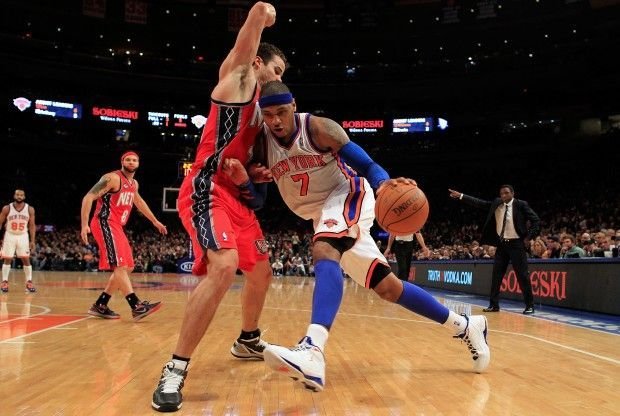 Carmelo Anthony y Kris Humphries./ Getty Images