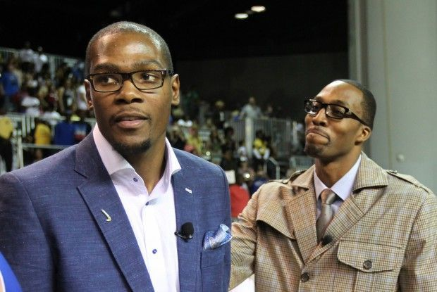 Kevin Durant, Dwight Howard./ Getty Images