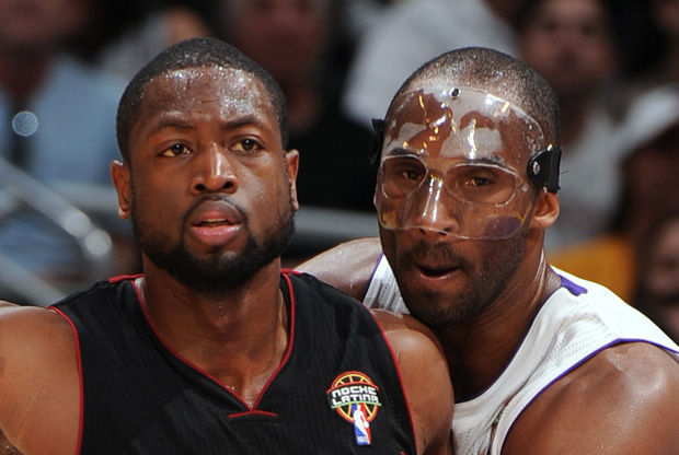 Kobe Bryant y Dwyane Wade./ Getty