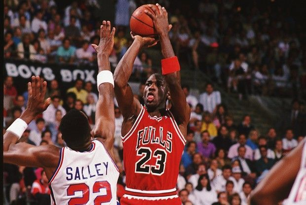 John Salley y Michael Jordan./ Getty Images