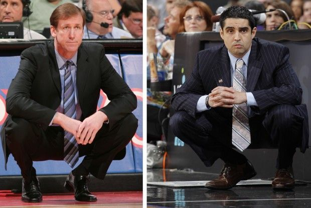 Terry Stotts y Kaleb Canales./ Getty Images