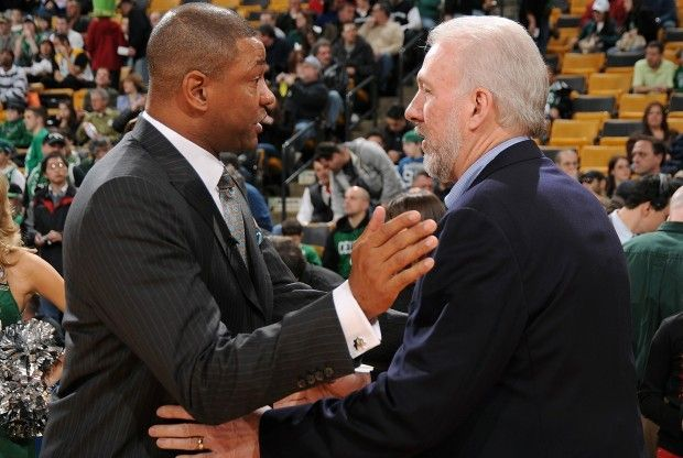 Doc Rivers y Gregg Popovich./ Getty Images