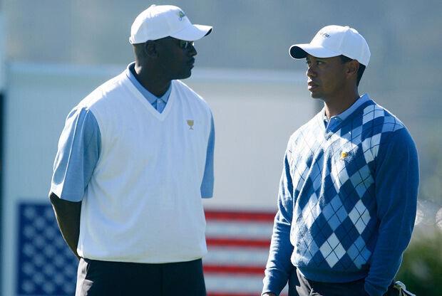 Michael Jordan y Tiger Woods./ Getty Images