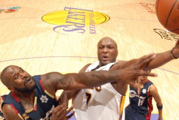 Shaquille O'Neal, Lamar Odom./ Getty Images