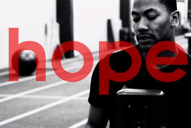 Fotograma del vídeo elaborado por adidas sobre la recuperación de Derrick Rose