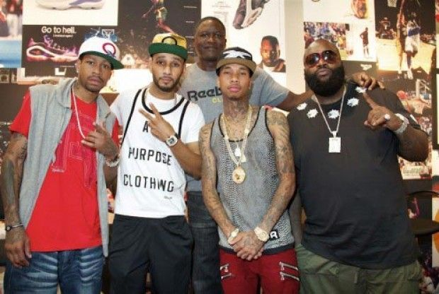 Allen Iverson, Rick-Ross, Tyga, Dominique Wilkins, Swizz Beats./ Twitter