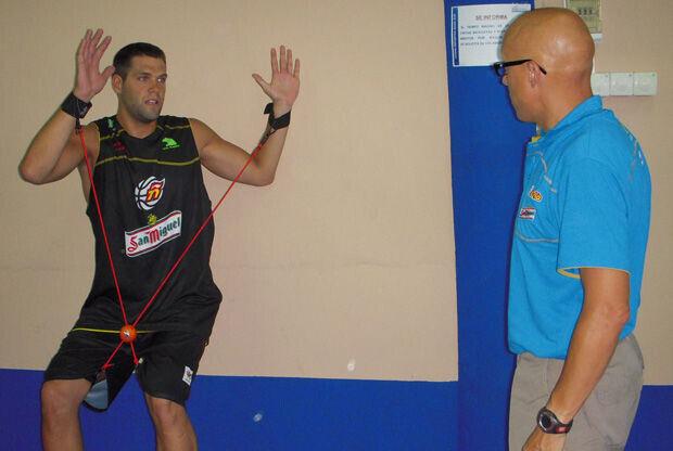 Nacho Coque con Felipe Reyes