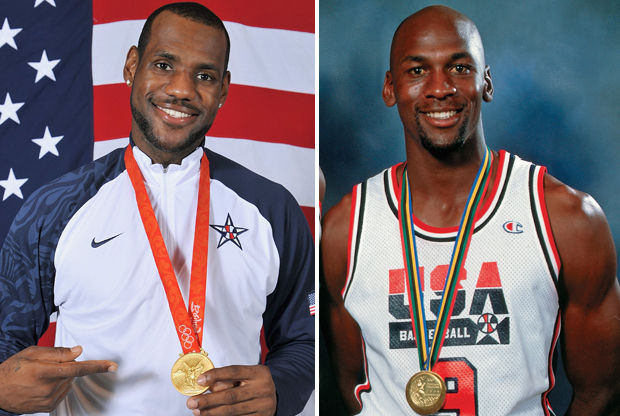 LeBron James y Michael Jordan./ Getty Images