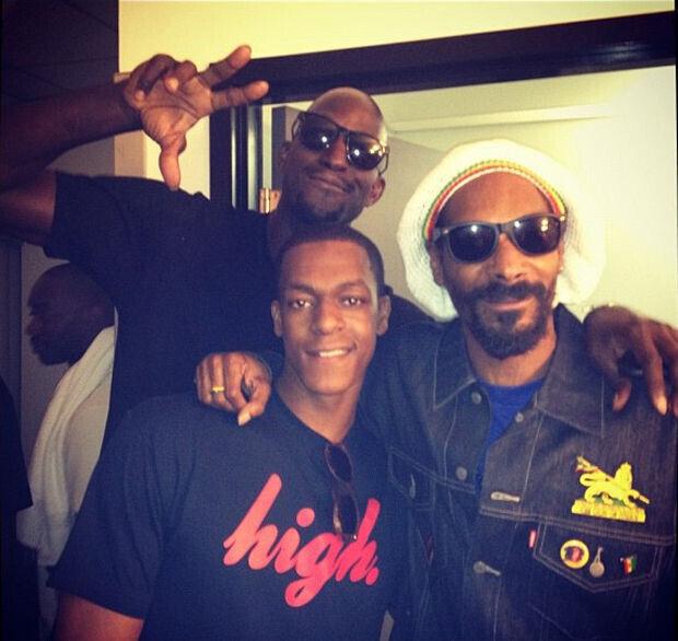 Kevin Garnett, Rajon Rondo y Snoop Dogg