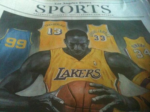 Dwight Howard, portada en Los Angeles Times
